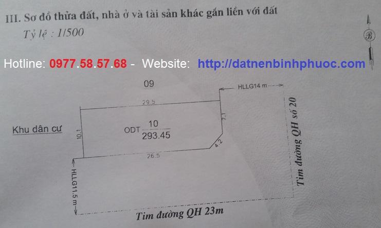 Bán đất 2 MT đường DT741 đối diện Tòa Án ND tỉnh Bình Phước